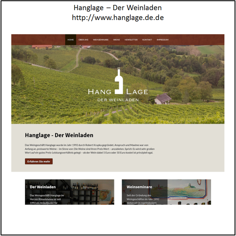 You are currently viewing Relaunch: Hanglage – Der Weinladen
